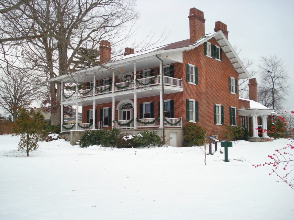 Smith-McDowell House in the snow